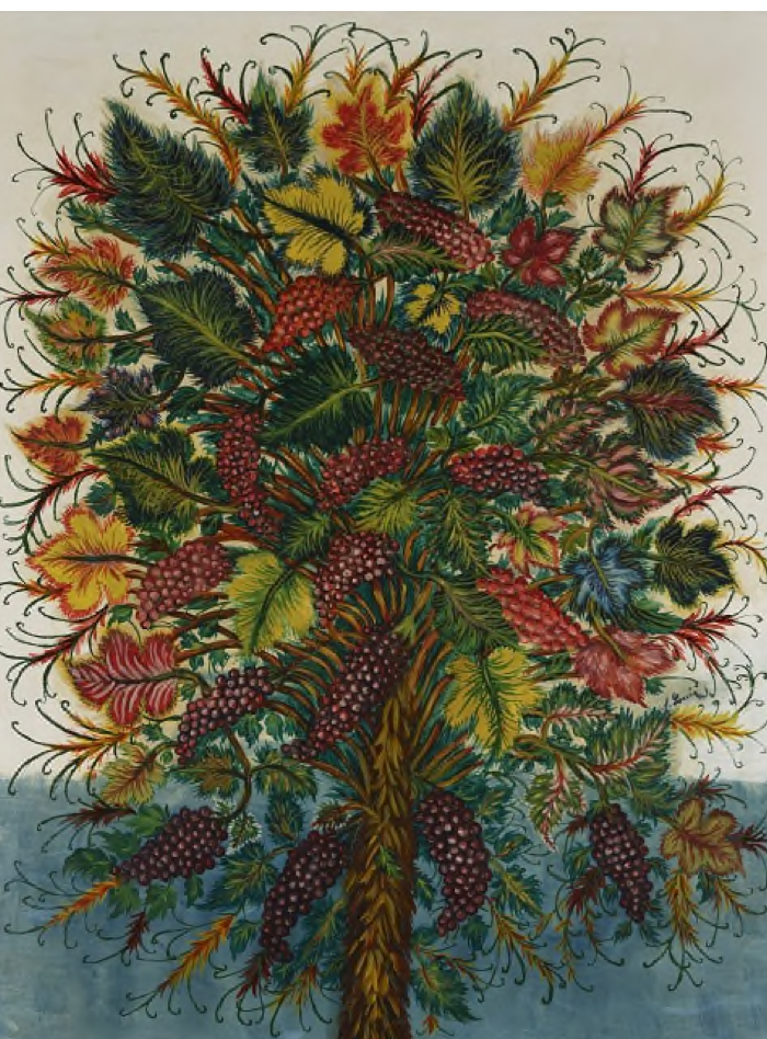 Bild: Séraphine Louis, Grappes de Raisin, ca. 1930, Öl auf Leinwand, 146 x 114 cm, 