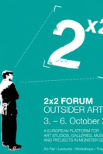 Logo des 2x2 Outsider Art Forum